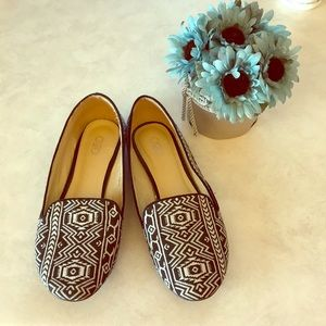 Cato Black and White Loafers